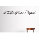 to Infinity and Beyond No limit inspirational Quote Wall Art Vinyl Decal Sticker