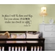 In Peace I will lie down and sleep, for you alone LORD, Bible Wall Quote Vinyl Decal Sticker