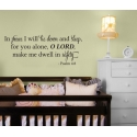 Psalm 4:8 In Peace I will lie down and sleep, for you alone LORD, Bible Wall Quote Vinyl Decal Sticker