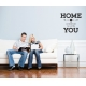 HOME is wherever I'm with YOU Love Quote Wall Bedroom Decor Vinyl Decal Sticker