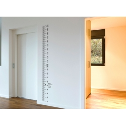 Ruler wall Vinyl decal sticker growth chart Kit DIY wooden vintage height chart