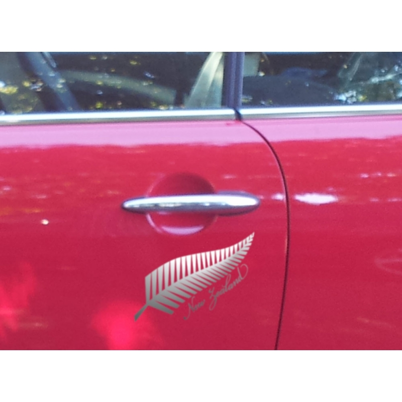 Silver fern tree new zealand kiwi symbol vinyl decal car boat tattoo