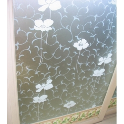 WHITE FLOWER REMOVABLE FROSTED WINDOW FILM PRIVACY 92CM/M