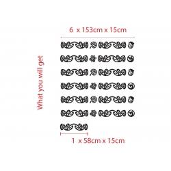 10m x 15cm Maori Koru car camper wall Border Tattoo Kiwi Symbol