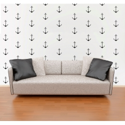 Anchor Wall Pattern Decals Nautical Boat Nursery Wall Decor Wallpaper Sticker