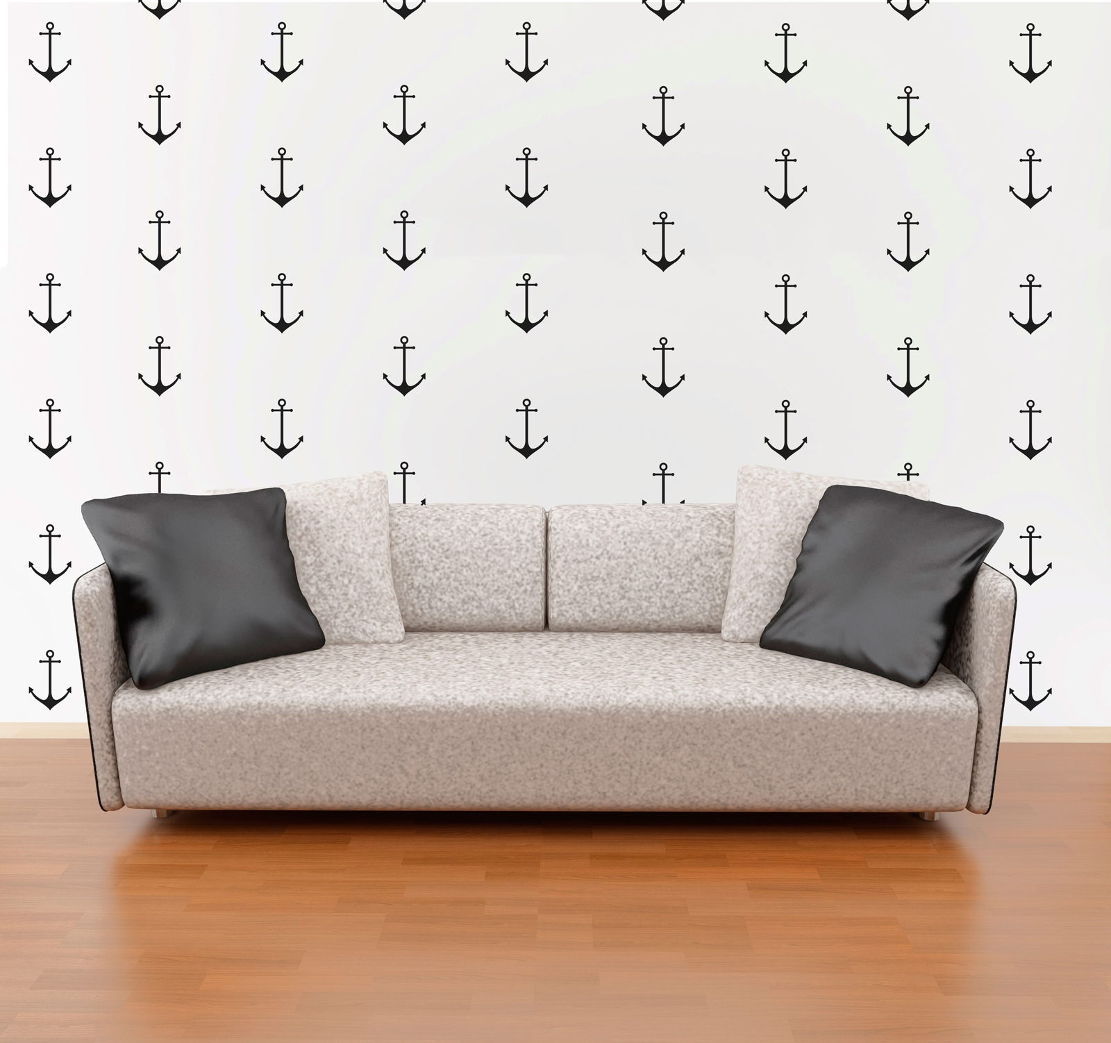 Anchor Wall Pattern Decals Nautical Boat Nursery Decor Wallpaper Sticker