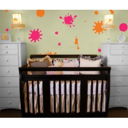 Splish Splat Splash Paint Splatter wall decal Sticker Removable Nursery