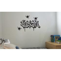 Custom Graffiti Wall Sticker w/ Dripping Splatter Personalised B-boy BreakDancer Hiphop Decals