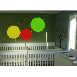 Splish Splat Splash Ink Paint Splatter wall decal Sticker Removable Nursery