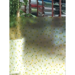 Green Tile Static Cling No adhesive Reusable Frosting Window Film Privacy 1m/m