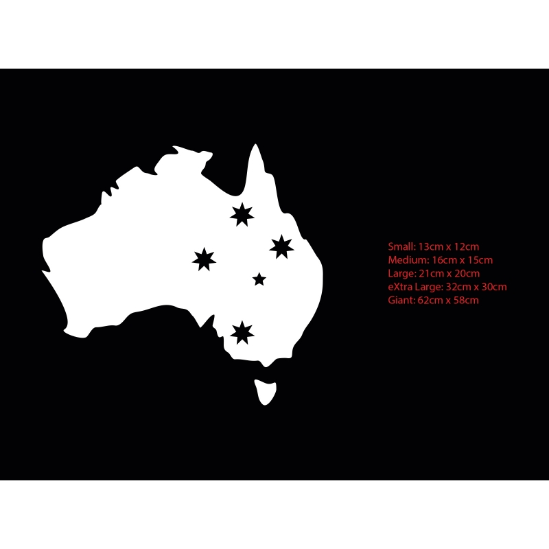 aussie australia map southern cross star sign car boat decal vinyl