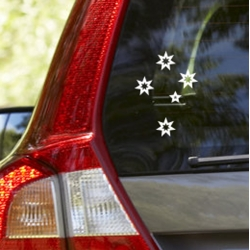 Aussie Southern Cross Star Outline Sign Car Boat UTE Truck Decal Vinyl Sticker