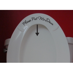 Please Put Me Down Funny Humorous Toilet Seat Bathroom Sign Vinyl Decal Sticker