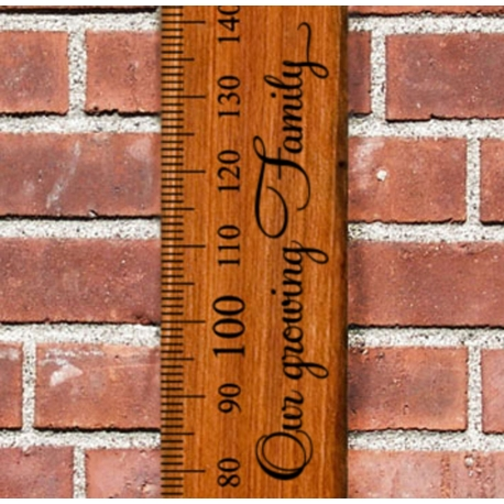 """Growth Chart Ruler Add-On """"Our Growing Family"""" Vinyl Decal Sticker for Side"""
