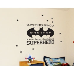 Sometimes being a brother is better than being a superhero Vinyl Decal Sticker