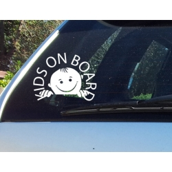 Kids Baby on Board Baby Face Safety Sign for Car Decal Vinyl Sticker