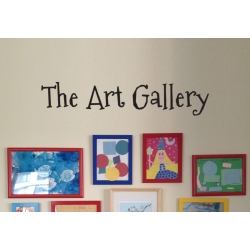 The Art Gallery Kids Nursery Artwork Display Wall Decor Decal Sticker Removable