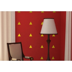 Triangle Pattern Wall Art Modern Vinyl Decal Sticker Removable 20+ Colours