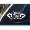 Precious Cargo on Board w/ Feet Safety Sign Print Car Window Decal Vinyl Sticker