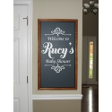 Personalized Baby Bridal Shower Birthday Anniversary Welcome Sign Decor Decal Sticker