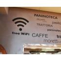 Free Wi-Fi Wifi Zone Sign Wireless Internet sign Logo Vinyl Sticker Decal Shop