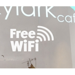Free Wi-Fi Wifi Sign Wall Window Vinyl Sticker Decal Shop Cafe Pub Restaurant