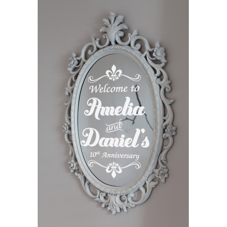 Personalized Wedding Engagement Anniversary Ceremony Welcome Sign Decal Sticker