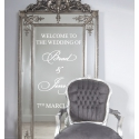 Welcome to Our Wedding Custom Personalized Couple Sign Wall Mirror Glass Decal Sticker Removable