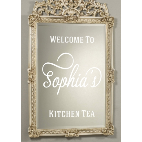 Custom Birthday Anniversary Kitchen Tea Party Event Welcome Sign Decal Sticker