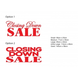 Removable Closing Down SALE Sign Retail SHOP Wall Window Vinyl Sticker Decal