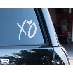 XO Love Kiss Hug Car Bike Boat Helmet The Weeknd Hip Hop Decal Vinyl Sticker