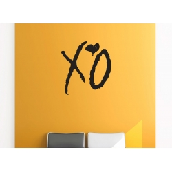 XO Love Kiss Hug Removable Wall Art The Weeknd Hip Hop Decal Vinyl Sticker