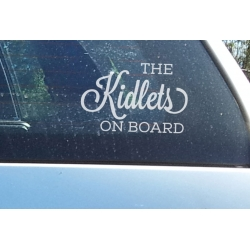 The kidlets on Board Baby Child Children Safety Sign for Car Decal Vinyl Sticker