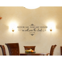 Joshua 24:15 AS FOR ME AND MY HOUSE WE WILL SERVE THE LORD BIBLE QUOTE ART WALL VINYL DECAL
