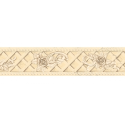 10.8cm X5M BEIGE ROSE MOULDING WOOD GRAIN VINYL WALLPAPER BORDER