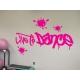 Live to Dance Splashes Graffiti Hip Hop Dance room Studio Wall Decal Sticker