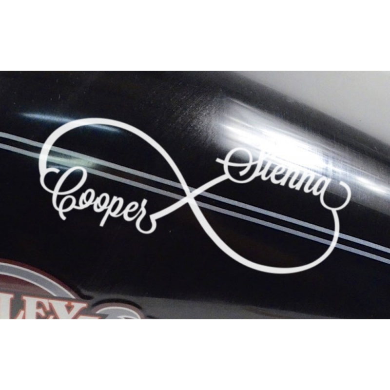 Infinity custom name rip rest in peace memorial outdoor car sign decal sticker