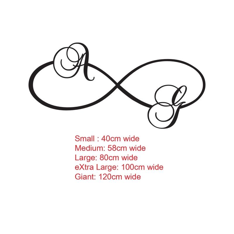 Infinity Eternity Symbol Initials Name Wall Art Tattoo Decal