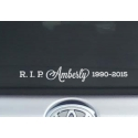 Custom Name Years RIP R.I.P. Rest In Peace Memorial Car Sign Vinyl Decal Sticker