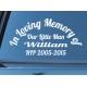 Custom Name In Loving Memory of RIP Years Memorial Car Sign Vinyl Decal Sticker