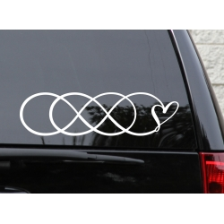 Double Infinity symbol Infinity Times Infinity Love Forever Car Sticker Decal