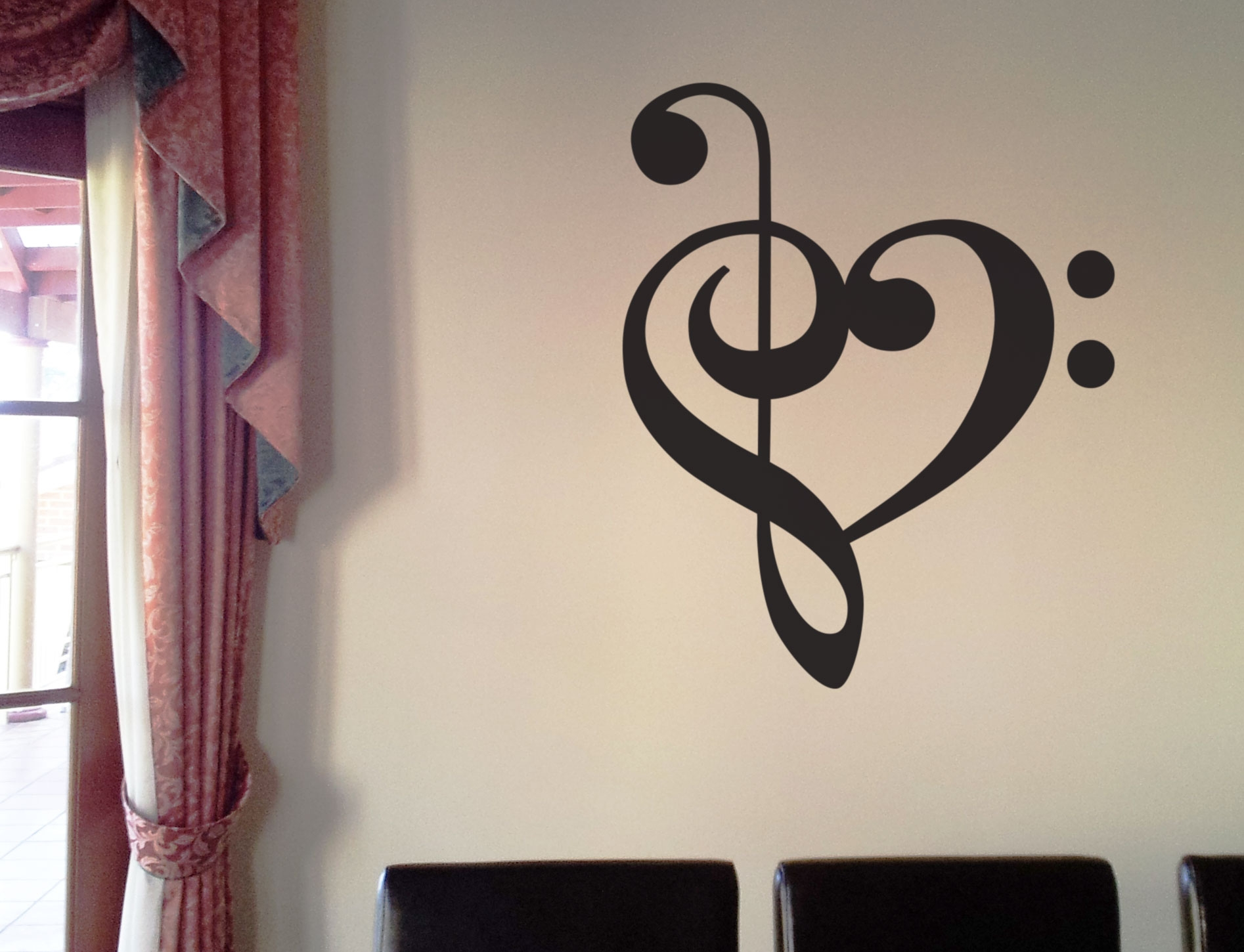 Faszinierend Wall Tattoo Ideen Von Music Heart Beat Love Treble Bass Clef