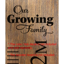 Our Growing Family Add-On Sticker Growth Chart Ruler Head Nursery Kids Vinyl Decal