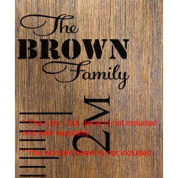 The Custom Family Add-On Sticker Growth Chart Ruler Head Nursery Vinyl Decal