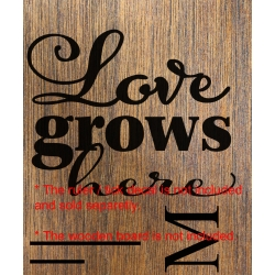 Love Grows Here Add-On Sticker Growth Chart Ruler Nursery Kids Vinyl Decal
