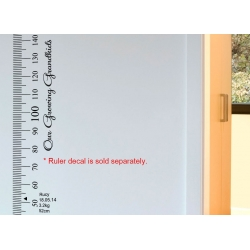 Our Growing Grandkids Growth Chart Ruler Add-On Vinyl Decal Sticker for Side