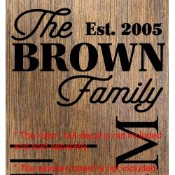 The Custom Family Est Year Add-On Sticker Growth Chart Ruler Head Nursery Vinyl Decal