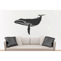 Whale Removable Wall Sticker Nursery Marine Theme Vinyl Decal