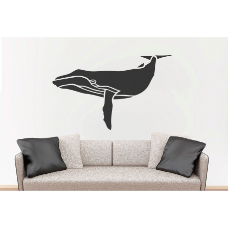 Whale Removable Wall Sticker Nursery Marine Theme Vinyl Decal