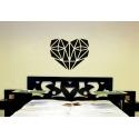 Geometric Diamond Heart Decal Wedding Decorations Valentine's Day Decor Sticker